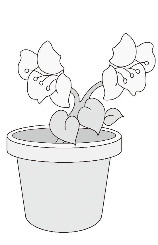 可爱的小花盆的简笔画