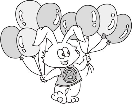 气球手绘简笔画